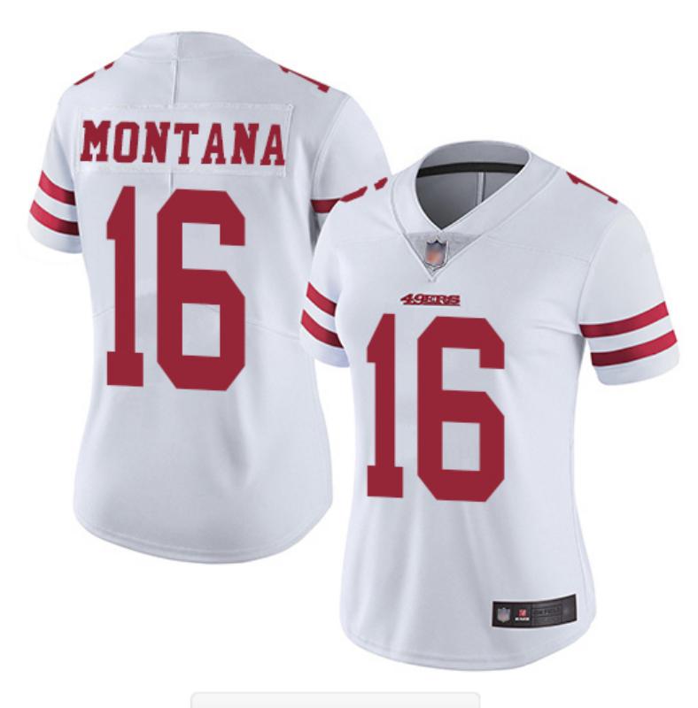 Nike 49ers 16 Joe Montana White Women Vapor Untouchable Limited Jersey
