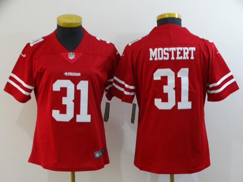 Nike 49ers 31 Raheem Mostert Red Women Vapor Untouchable Limited Jersey