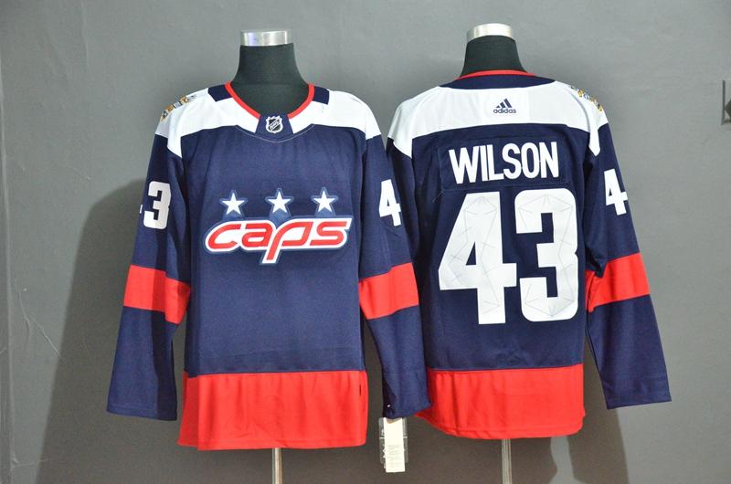 Capitals 43 Tom Wilson Navy Adidas Jersey