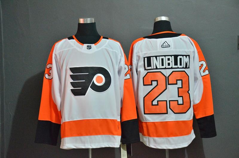 Flyers 23 Oskar Lindblom White Adidas Jersey