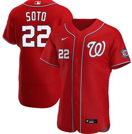 Nationals 22 Juan Soto Red Nike 2020 Flexbase Jersey