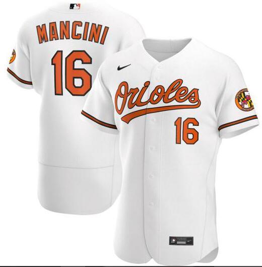Orioles 16 Trey Mancini White Nike 2020 Flexbase Jersey