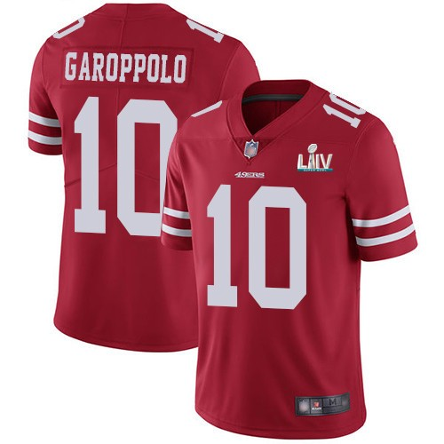 Nike 49ers 10 Jimmy Garoppolo Red Youth 2020 Super Bowl LIV Vapor Untouchable Limited Jersey