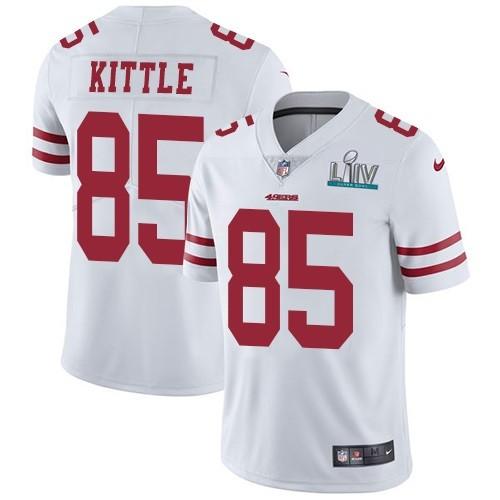 Nike 49ers 85 George Kittle White 2020 Super Bowl LIV Vapor Untouchable Limited Jersey
