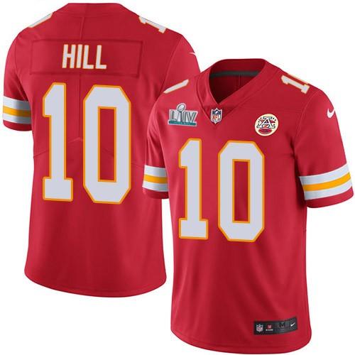 Nike Chiefs 10 Tyreek Hill Red 2020 Super Bowl LIV Vapor Untouchable Limited Jersey