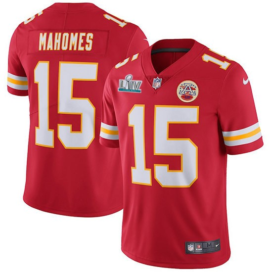 Nike Chiefs 15 Patrick Mahomes Red 2020 Super Bowl LIV Vapor Untouchable Limited Jersey