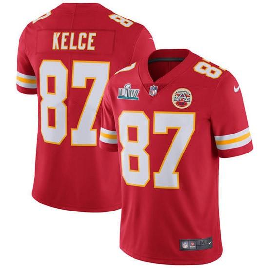 Nike Chiefs 87 Travis Kelce Red 2020 Super Bowl LIV Vapor Untouchable Limited Jersey