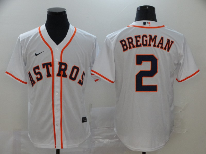Astros 2 Alex Bregman White 2020 Nike Cool Base Jersey
