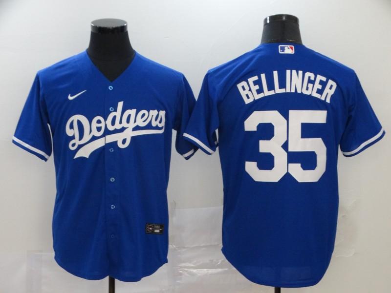 Dodgers 35 Cody Bellinger Royal 2020 Nike Cool Base Jersey