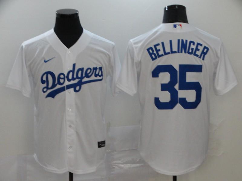 Dodgers 35 Cody Bellinger White 2020 Nike Cool Base Jersey