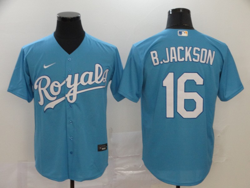 Royals 16 Bo Jackson Blue 2020 Nike Cool Base Jersey