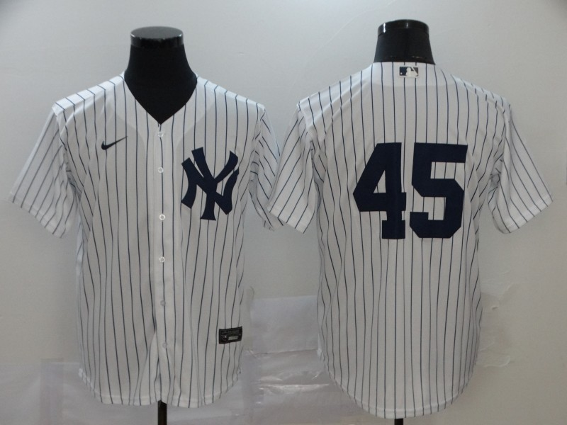 Yankees 45 Gerrit Cole White 2020 Nike Cool Base Replica Player Jersey