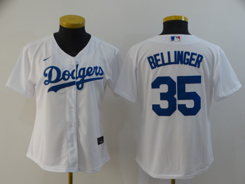 Dodgers 35 Cody Bellinger White Women 2020 Nike Cool Base Jersey