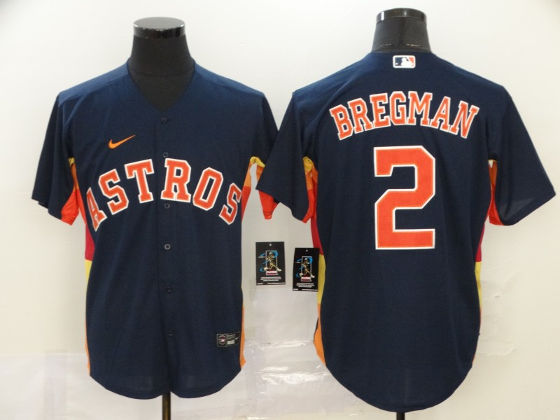 Astros 2 Alex Bregman Navy 2020 Nike Cool Base Jersey