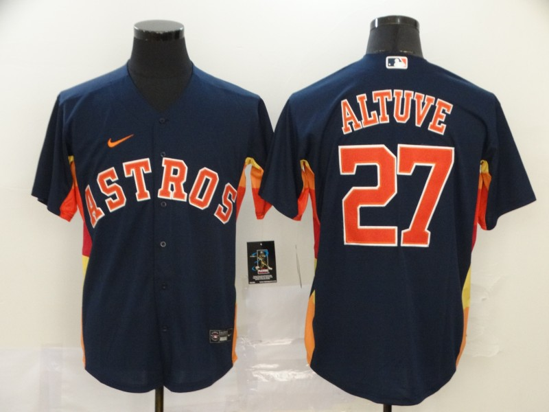 Astros 27 Jose Altuve Navy 2020 Nike Cool Base Jersey