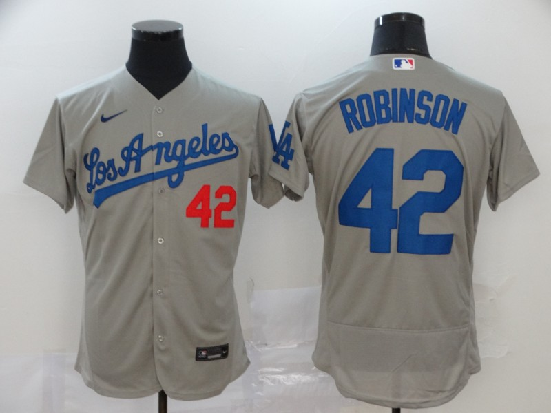 Dodgers 42 Jackie Robinson Gray 2020 Nike Flexbase Jersey
