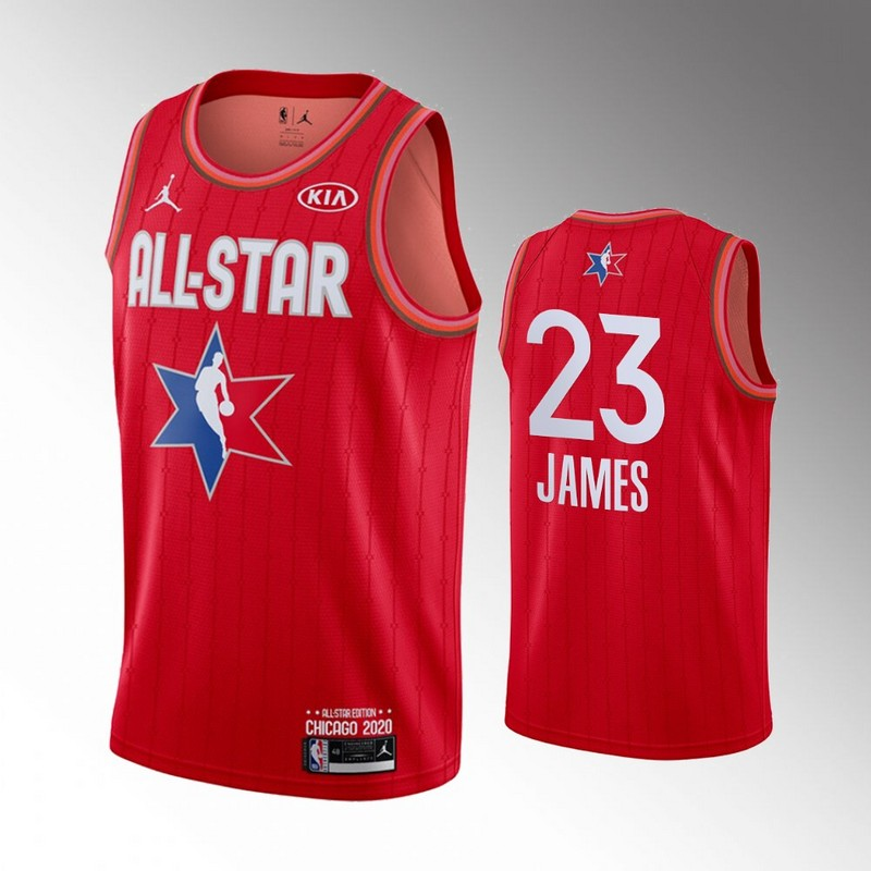 Lakers 23 Lebron James Red 2020 NBA All-Star Jordan Brand Swingman Jersey