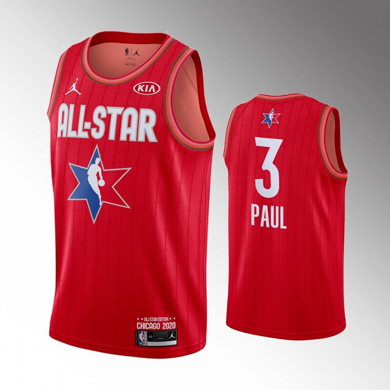 Thunder 3 Chris Paul Red 2020 NBA All-Star Jordan Brand Swingman Jersey