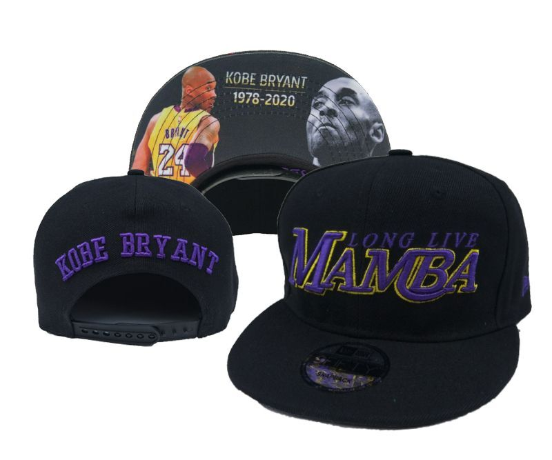 Lakers Team Logo Kobe Bryant Black Adjustable Hat YD