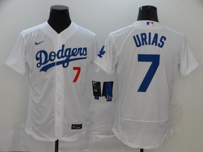 Dodgers 7 Julio Urias White 2020 Nike Flexbase Jersey
