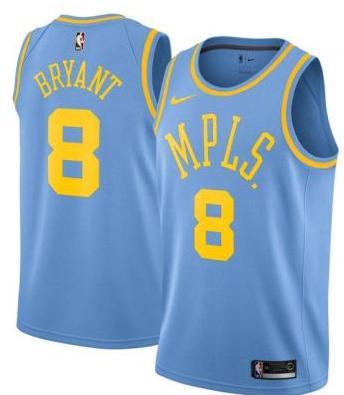 Lakers 24 Kobe Bryant Blue MPLS Nike Swingman Jersey