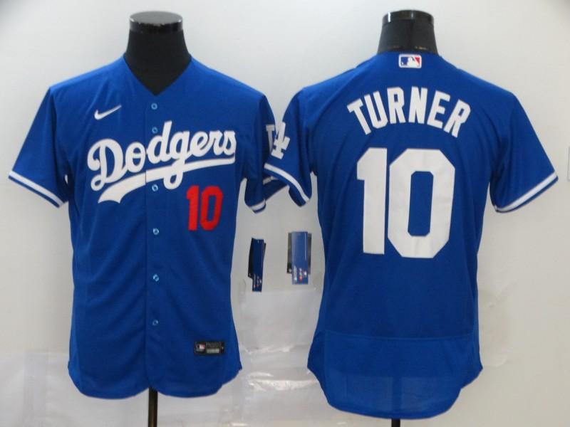Dodgers 10 Justin Turner Royal 2020 Nike Flexbase Jersey
