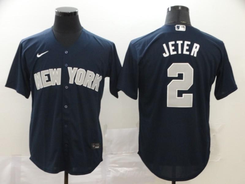 Yankees 2 Derek Jeter Navy 2020 Nike Cool Base Jersey