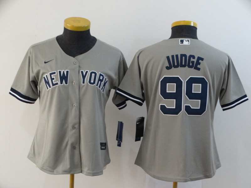 Dodgers 99 Aaron Judge Gray Women 2020 Nike Cool Base Jersey