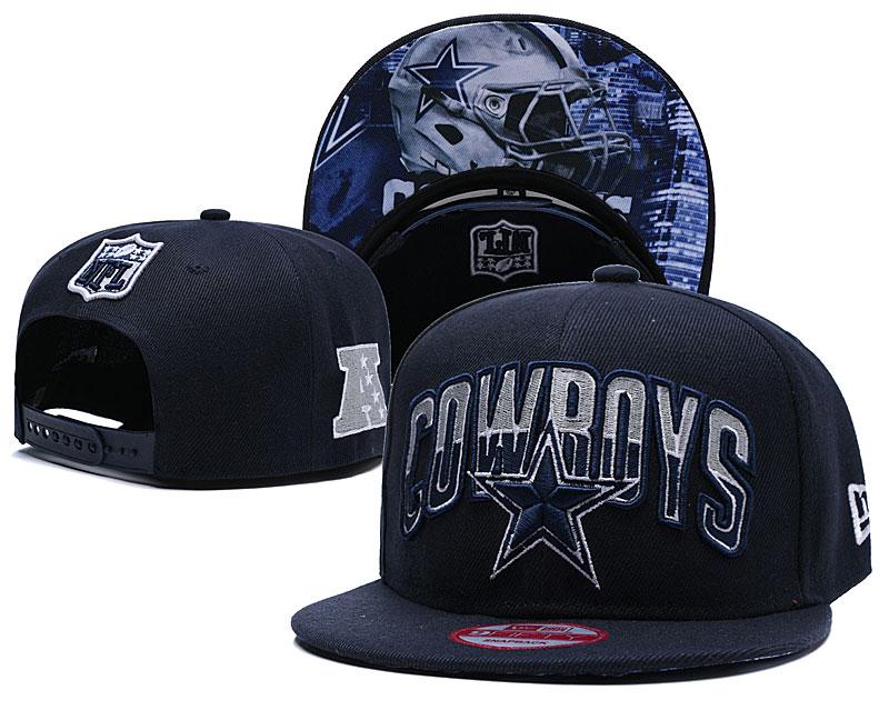 Cowboys Team Logo Navy Adjustable Hat TX