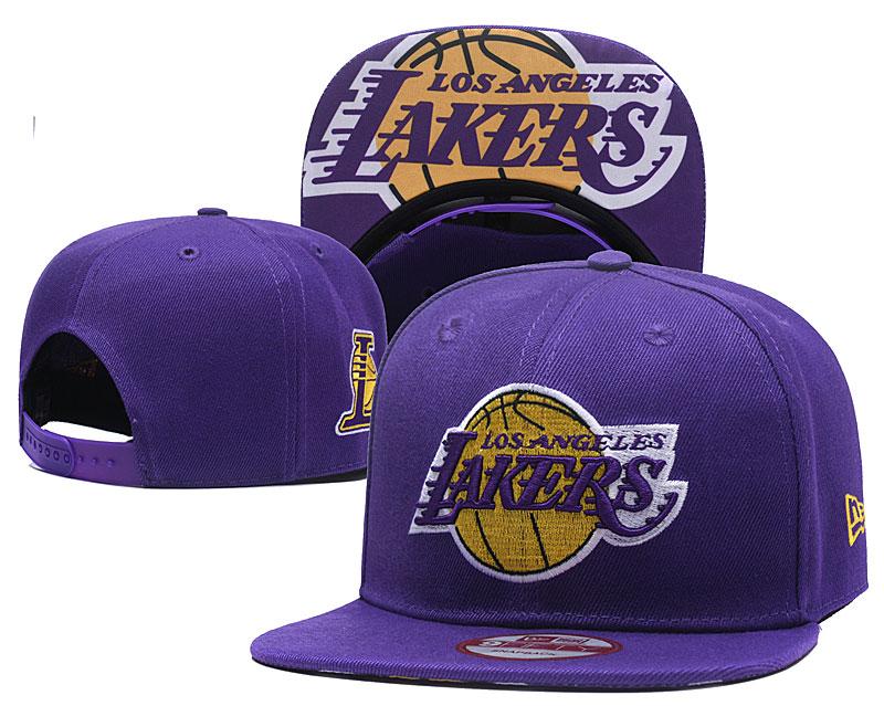 Lakers Fresh Logo Purple Adjustable Hat TX