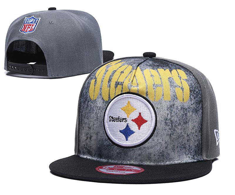 Steelers Team Logo Gray Adjustable Hat TX