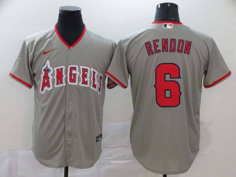 Angels 6 Anthony Rendon Gray 2020 Nike Cool Base Jersey