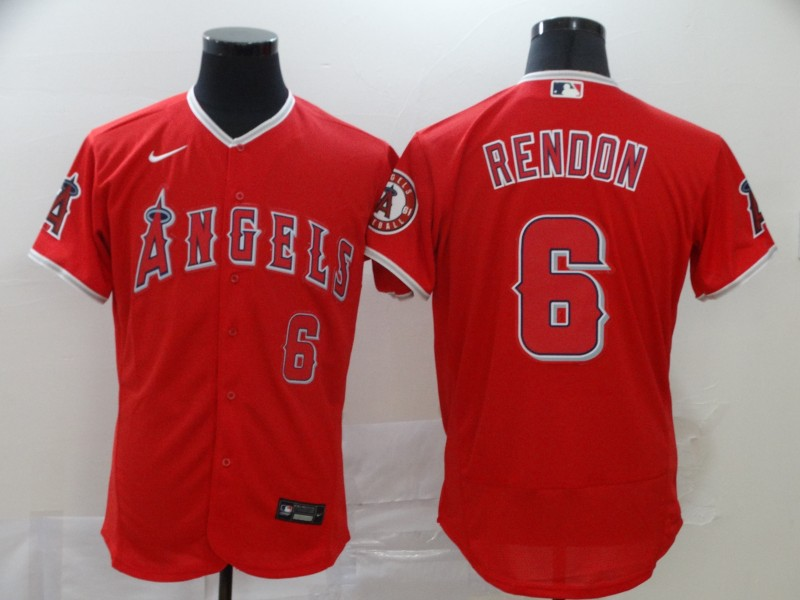 Angels 6 Anthony Rendon Red 2020 Nike Flexbase Jersey