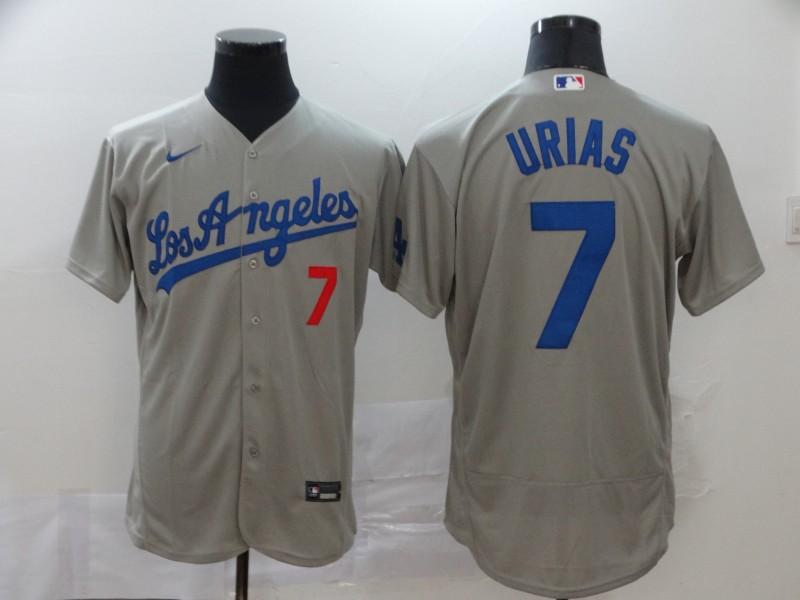 Dodgers 7 Julio Urias Gray 2020 Nike Flexbase Jersey