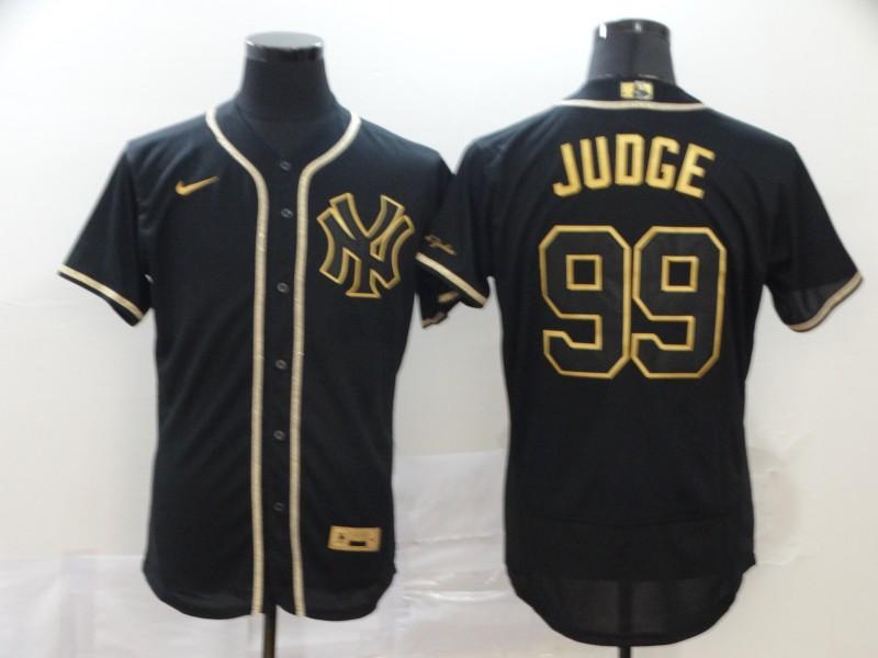Yankees 99 Aaron Judge Black Gold Nike Flexbase Jersey
