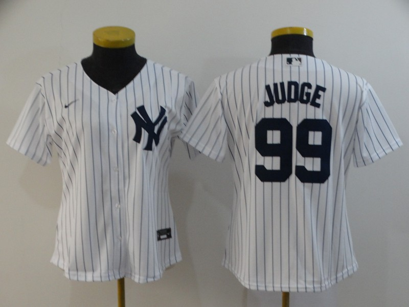 Yankees 99 Aaron Judge White Women 2020 Nike Cool Base Jersey
