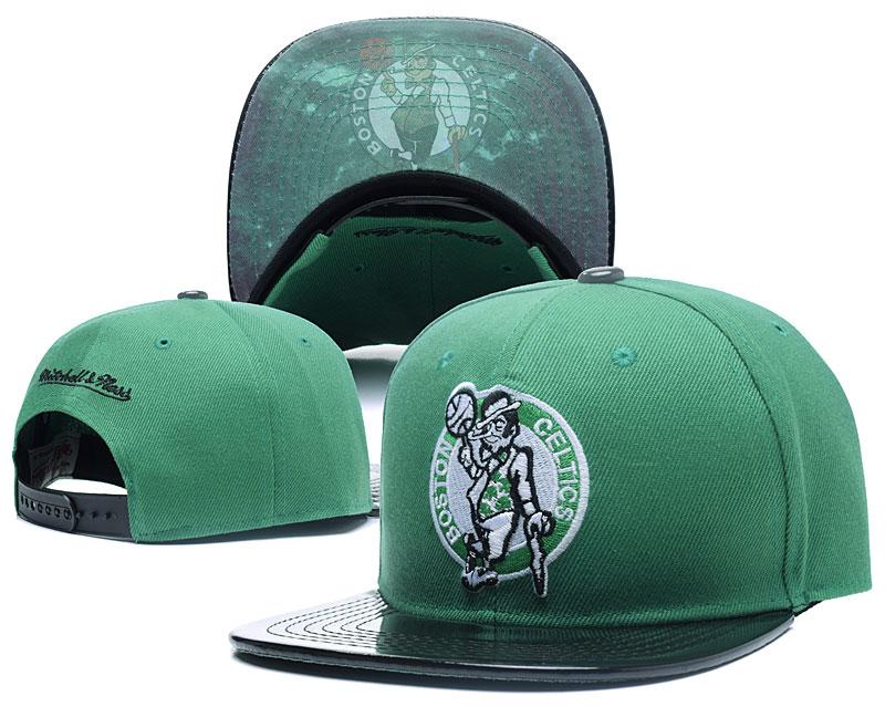 Celtics Team Logo Green Mitchell & Ness Adjustable Hat LH