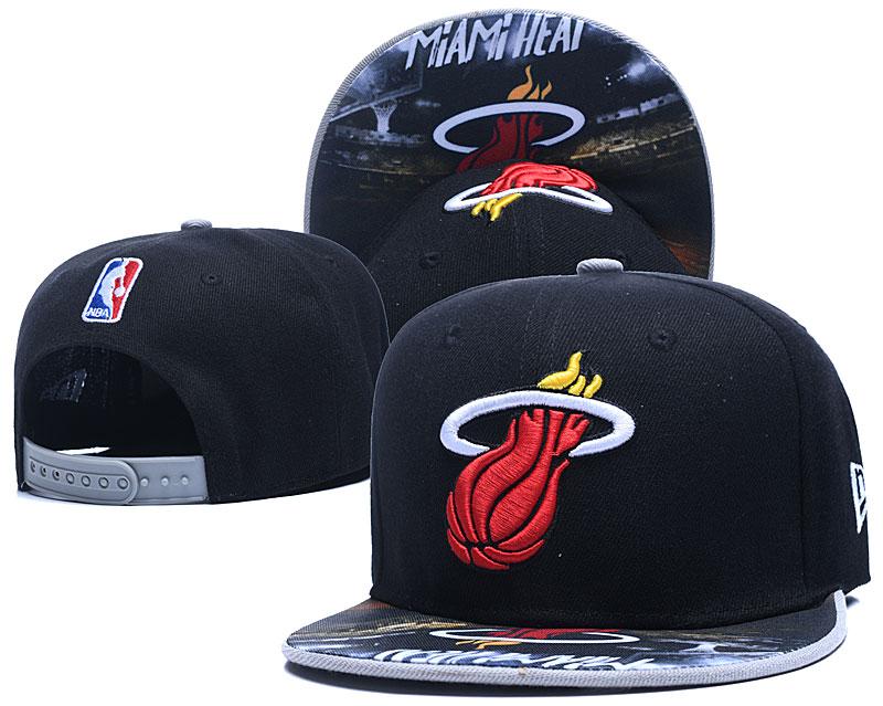 Heat Team Logo Black Adjustable Hat LH