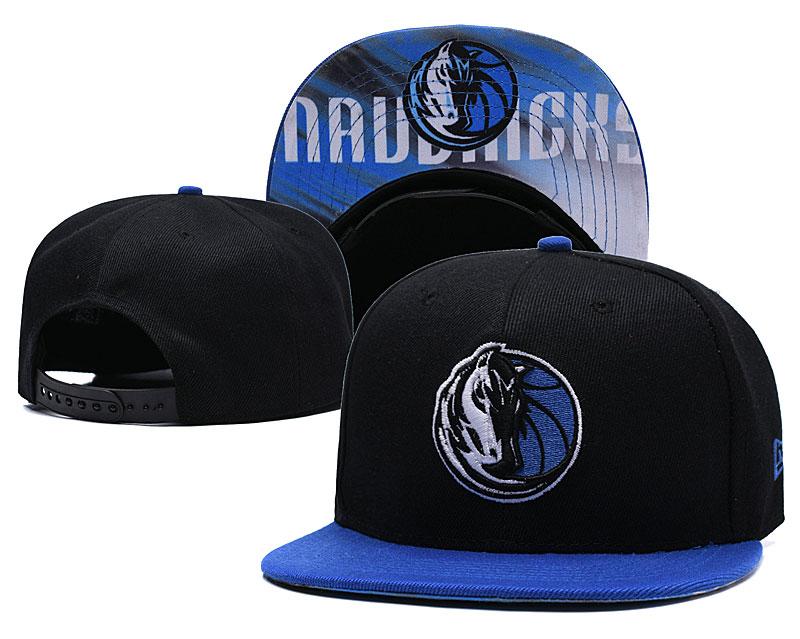 Mavericks Team Logo Black Adjustable Hat LH