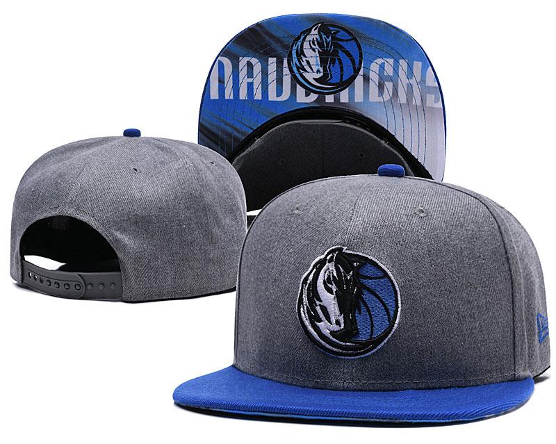 Mavericks Team Logo Gray Adjustable Hat LH.jpeg