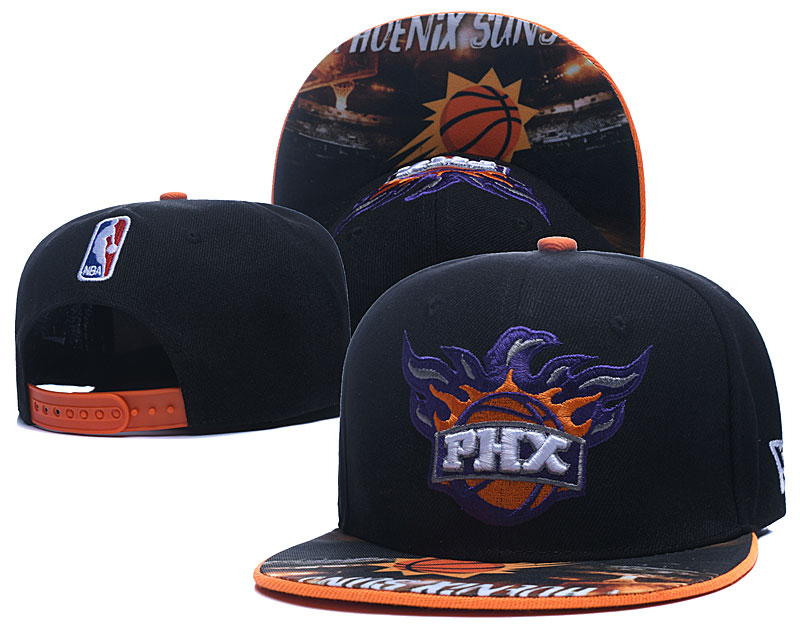 Suns Team Logo Black Adjustable Hat LH