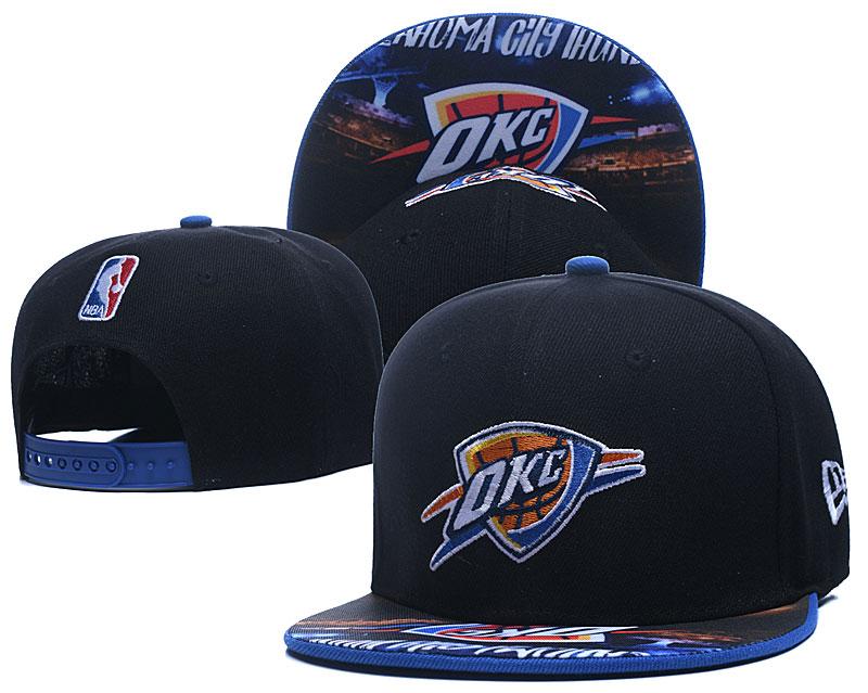 Thunder Team Logo Black Adjustable Hat LH