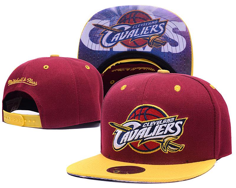 Thunder Team Logo Red Mitchell & Ness Adjustable Hat LH