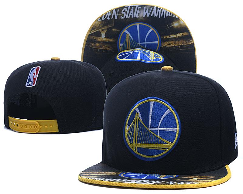 Warriors Team Logo Black Adjustable Hat LH
