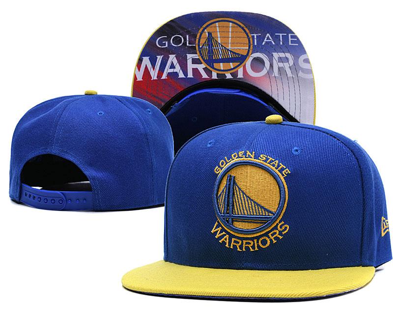 Warriors Team Logo Blue Adjustable Hat LH.jpeg