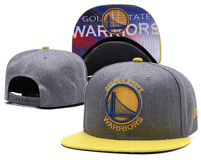 Warriors Team Logo Gray Adjustable Hat LH