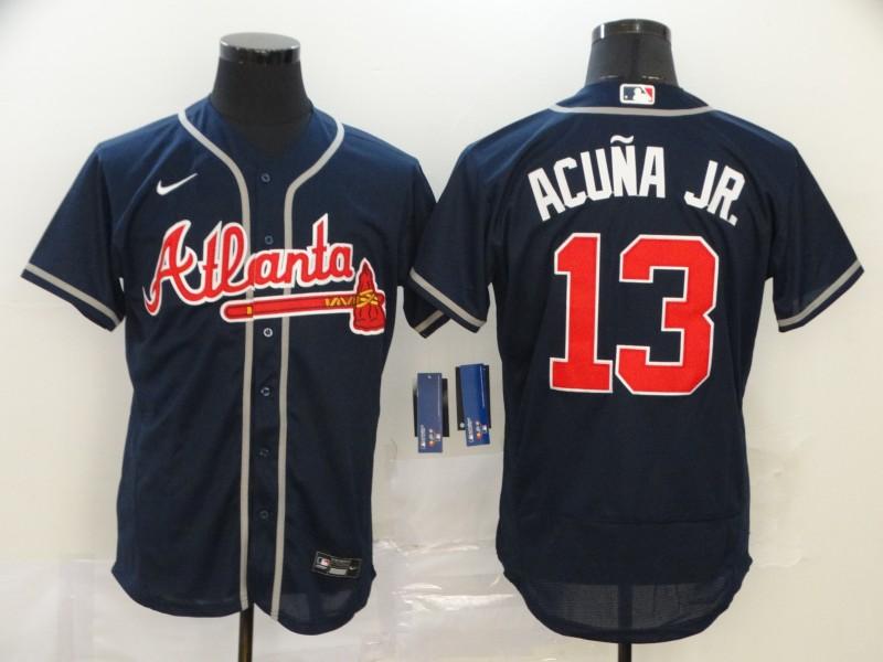 Braves 13 Ronald Acuna Jr. Nave 2020 Nike Flexbase Jersey