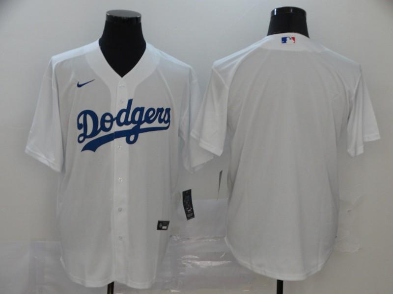 Dodgers Blank White 2020 Nike Cool Base Jersey