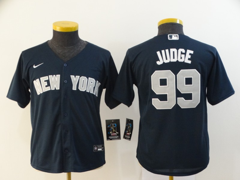 Yankees 99 Aaron Judge Navy Youth 2020 Nike Cool Base Jersey