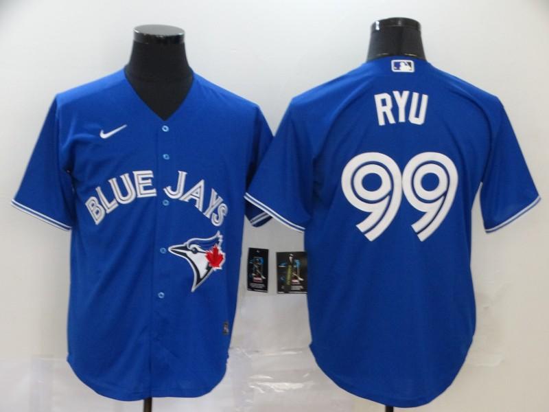 Blue Jays 99 Hyun Jin Ryu Royal 2020 Nike Cool Base Jersey